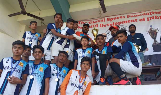 We won second prize in National Level Football 2018 competition at Goa.