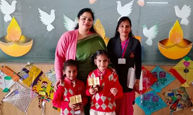 Our school won first prize in singing competition in 'PROTSAHAN' Inter School Competition.